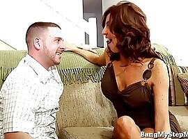 Horny MILF Pounces On Her Stepson!