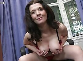 Mom next door with big tits and hungry pussy