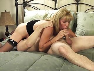 Mature Petite Blonde Sucks and Fucks Her Young BoyToy